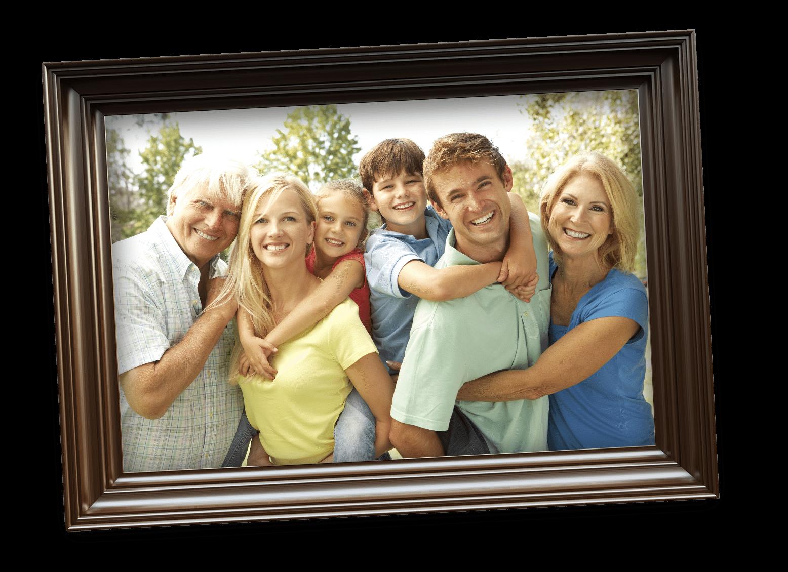 family in frame